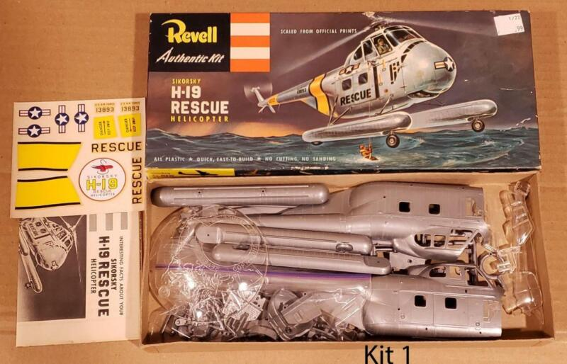"""Revell """"S"""" USAF Sikorsky H-19 Rescue Helicopter - Org 50"""