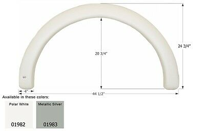 Coachmen Single RV Fender Skirt FS1982, Polar White