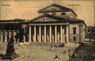 MÜNCHEN Bayern Kgl. Hoftheater Theater 1919 alte AK  gelaufen nach Dinkelsbühl