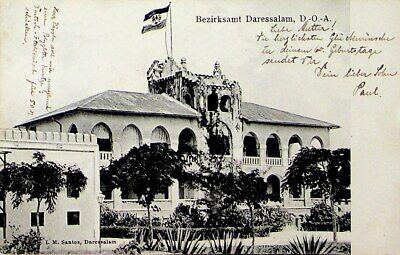 TANZANIA DISTRICT OFFICE DARESSALAM UPU PPC TO GERMANY W/AUSTRIA 1v