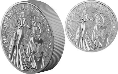 2019 2 oz Germania The Allegories Britannia & Germania Silver (Box+ CoA)