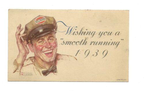 Vintage 1939 Amoco Norman Rockwell Postcard