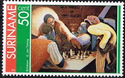 Surinam Chess Players stamp 1976 MNH