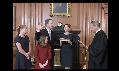 Supreme Court Justice Brett Kavanaugh PHOTO Sworn In Oath & Family, John Roberts