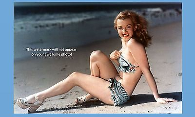 Marilyn Monroe Hot Bikini Photo  Gorgeous Sexy Beach 1St Publicity Photo Shoot