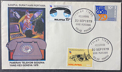 MALAYSIA  First Day Cover TELECOM 79  Satellite