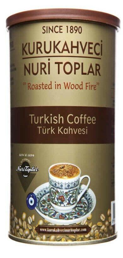 Kurukahveci Nuri Toplars Turkish Coffee 8.8 oz / 250 Gr Or 17.6 oz / 500 g.