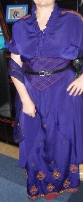 2tlg. Damen Karneval Kleid mit Stickerei Maßgeschneidert indische - Blaue Indische Kostüm