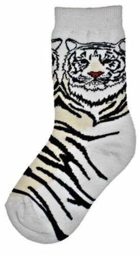 White Tiger Trouser Crew Sock White BG NWT UNIVERSAL SIZE XL WILD HABITAT ROAR