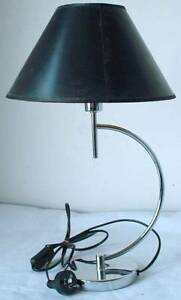 BEDSIDE LAMP. CHROME WITH A BLACK SHADE. East Perth Perth City Area Preview