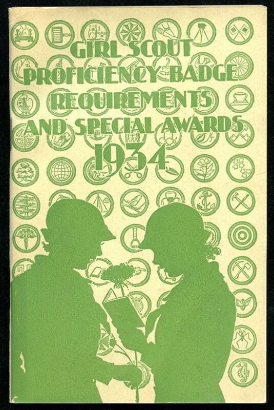 """Scarce 1933 Booklet """"Girl Scout Proficiency Badge Requirements & Special Awards"""""""