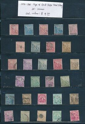 OWN PART OF CAPE OF GOOD HOPE POSTAL STAMP HISTORY. 28 ISSUES CAT VALUE $9.80