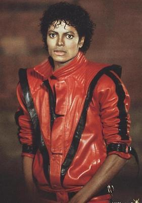 MICHAEL JACKSON THRILLER STYLISH MEN'S LEATHER JACKET IN TWO EXCLUSIVE COLORS ](Michael Jackson Leather Jacket)