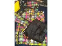 Roxy ski / snowboard coat and salopettes small / 10