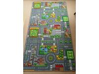 CHILDREN'S ROAD PLAY RUG in excellent condition.