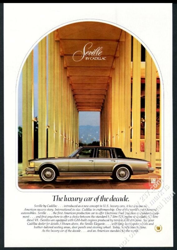 1979 Cadillac Seville Elegante 2-tone car photo vintage print ad