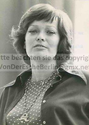 STARLETS: ZDF Elfi von KALCHREUTH Ansage - OriginalFoto VINTAGE FOTO: Ingo BARTH