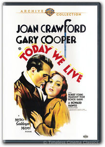 Today We Live DVD New Joan Crawford, Gary Cooper, Robert Young, Franchot Tone