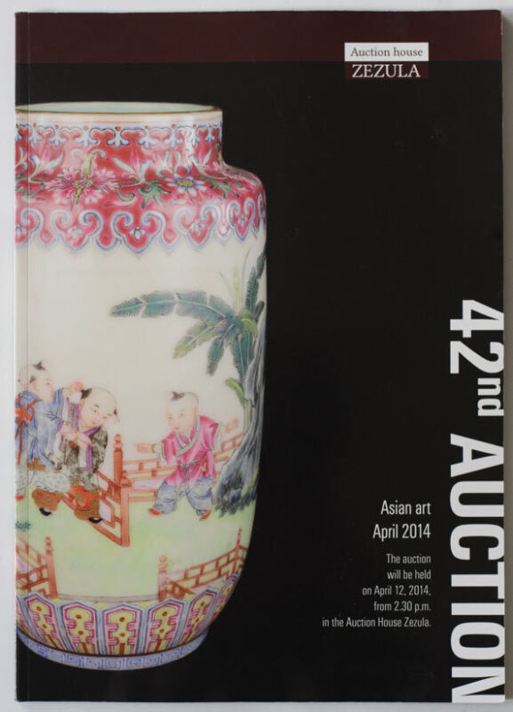 China, Japan antiques 2014 ZEZULA Asian art auction catalogue