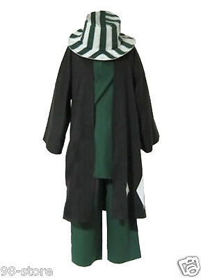 Japanese anime Animation Bleach Urahara Kisuke Cosplay Costume with hat - Anime Cosplays