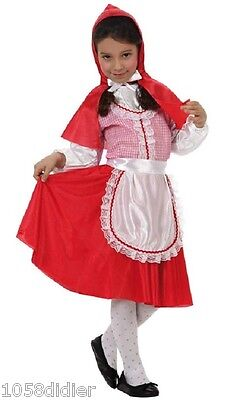 Costume Girl Small Chaperon Red 5/6 years Child Drawing Cartoon NEW Cheap - Cheap Costumes Kids
