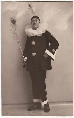 Echtes Original 1920er J. Harlekin, Clown, (Echter Clown Kostüm)