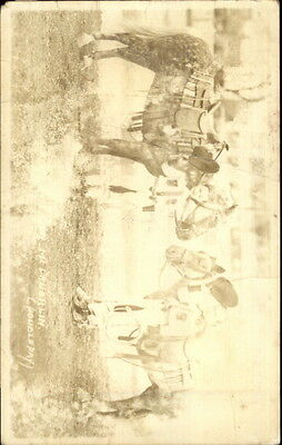 ts w/ Their Horses - Doubleday Real Photo Postcard (Cowboy-outfits)
