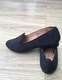OPEN TO OFFERS. Black sparkly studded pumps