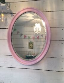 Beautiful shabby chic vintage pink mirror