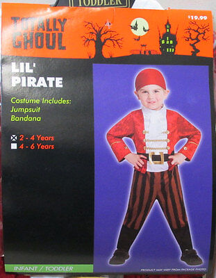 Lil Pirate Jumpsuit Boys Halloween Costume Size 2T-4T Outfit Totally - 2t Pirate Costume Boy