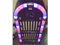 Intempo Bluetooth jukebox! Speaker output 30watt. Double AUX! Lights up to music. Remote included.