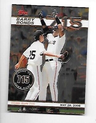 BARRY BONDS 2006 TOPPS CHROME CHASE TO 715 #BBC16