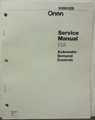 Onan HA Automatic Demand Controls Service Manual -