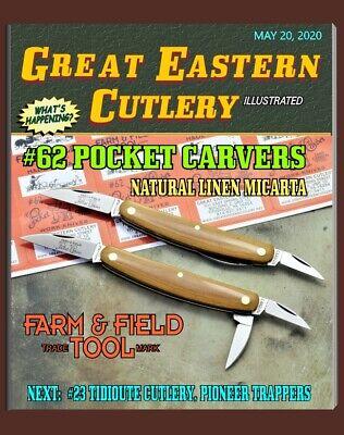 """GREAT EASTERN CUTLERY KNIFE-{FARM & FIELD} #62 POCKET CARVERS - MICARTA -3 7/8"""""""
