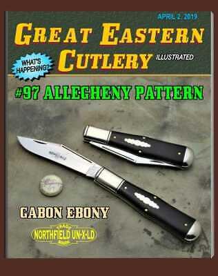"GREAT EASTERN CUTLERY KNIFE- {NORTHFIELD UN-X-LD} #976119 GABON EBONY - 4 3/4"""