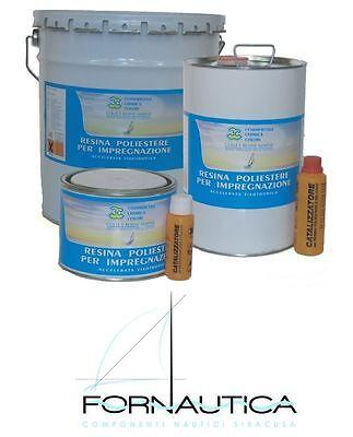 RESINA LIQUIDA POLIESTERE ORTO 5 kg. + INDURITORE / CATALIZZATORE ( 4 litri )