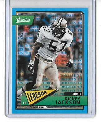 Jackson Nfl Football - 2018 CLASSICS NFL FOOTBALL TIMELESS TRIBUTES BLUE RICKY JACKSON 9/10 SAINTS