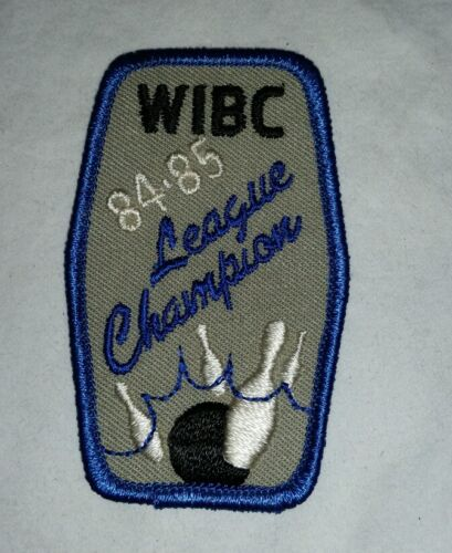 Wibc League Champion Bowling Patch 84-85. Free Shipping