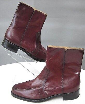 New Florsheim Moc Toe Side Zip Ankle Boots Redwood Brown Sz 7.5E Redwood Moc