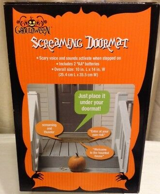 Halloween Screaming Doormat (Measures 10