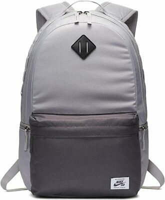 "NIKE SB Icon Backpack 15"" Laptop School Gym Skateboarding BA5727-059 Grey - NEW"
