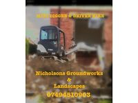 Mini digger & operator hire! Tyne and Wear!!!
