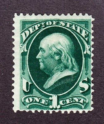 US O57 1c State Department Mint Fine OG H SCV $260