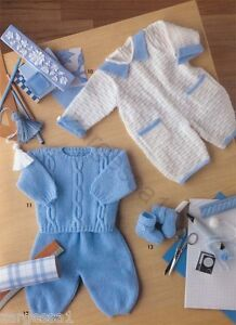 baby boy jumpsuit trousers and jumper knitting pattern