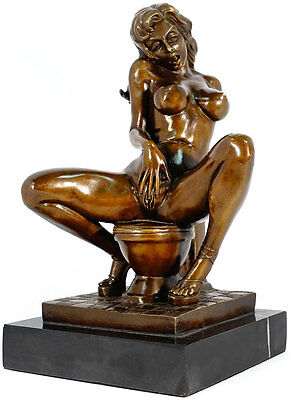 EROTIKA BRONZE PORN-ART FIGUR heiße PIN-UP LADY AKT SKULPTUR HARDCORE INTIM SEX
