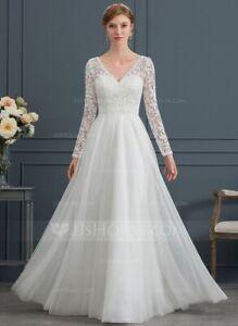 Floor Length Tulle Wedding Dress