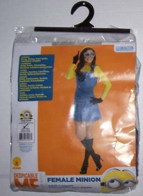 Despicable Me Female Minion costume Sz Womens 10-14 12 dress + access Halloween ()