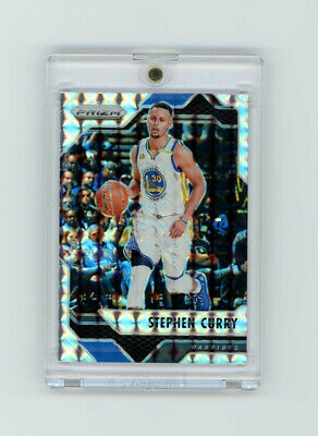 2016-17 Prizm SILVER REFRACTOR HOLO STEPHEN STEPH CURRY Golden State Mosaic!