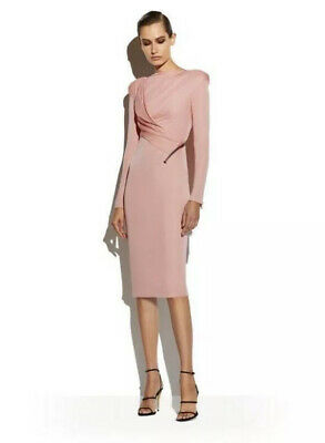 Tom Ford Iconic Signature Zip Dress Size 38 Uk 8-10 Pearl Pink