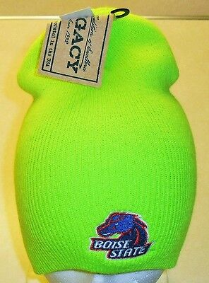 BOISE STATE Broncos -Lime Green- Winter Hat Beanie (New w. Tags!) NCAA Rare